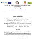 """decereto di pubblicazione - Istituto Comprensivo """"Pascoli"""
