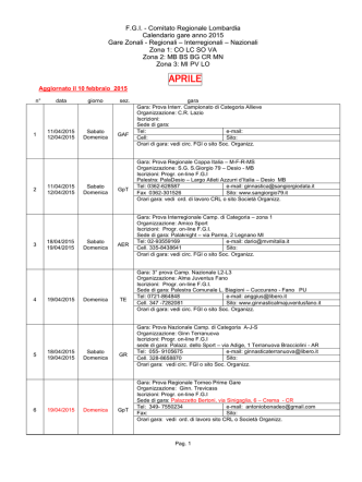 APRILE - Comitato Regionale Lombardia F.G.I.