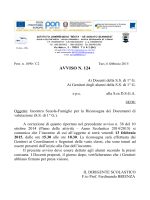 AVVISO N. 124 - Istituto Comprensivo Resta – De Donato Giannini
