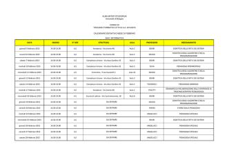 Classe A042 - Università degli Studi di Bologna