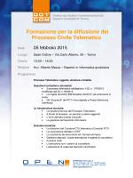 Formazione per la diffusione del Processo Civile Telematico