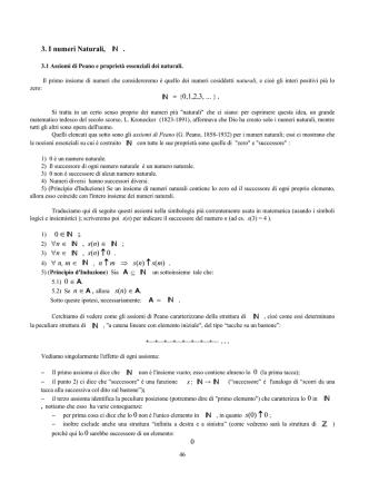 2. I numeri Naturali, N.