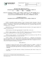 approvazione avviso pubblico per la concessione di contributi ai