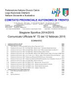 Comunicato n. 72