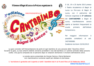 CantaBimbo 2015 - Pro Loco Bagni di Lucca