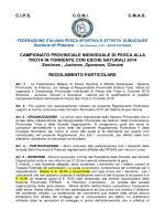 Regolamento Provinciale Torrente 2015