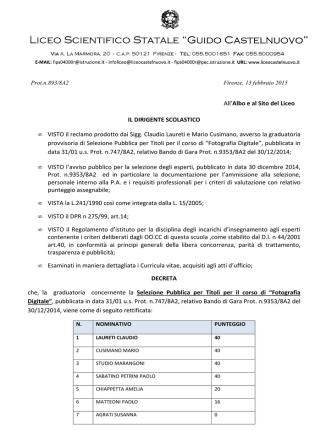 Decreto - Liceo Scientifico Castelnuovo
