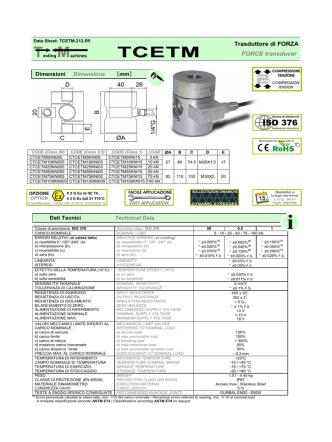Data sheet TCETM