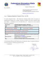 Campionato di Categoria - Comitato Regionale Sicilia
