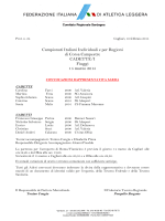 convocazioni Camp Ita Cross Fiuggi 15 mar 2015