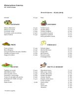 Menu del 16 Febbraio 2015 - CRAL Aziendale Fondiaria