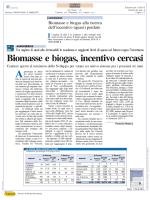 Biomasse e biogas senza incentivi
