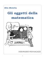 Gli oggetti della matematica - Dizionario per ragazzi