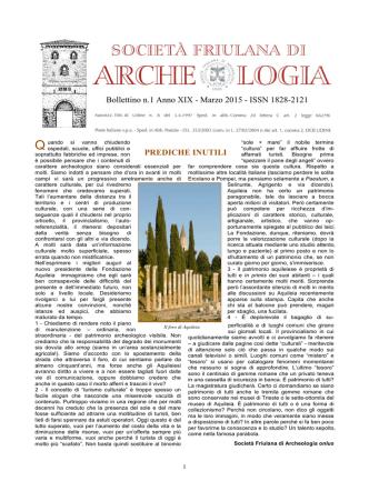 Bollettino n.1 Anno XIX (marzo 2015 )