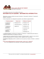 MATEMATICA IN AZIONE MATEMATICA INTERATTIVA