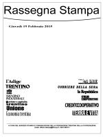 Scarica il fascicolo PDF della Rassegna Stampa di Giovedì 19