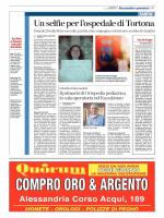 ALESSANDRIA Un selfie per l`ospedale di Tortona