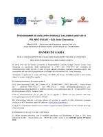 Bando Gara Sito GAL Area Grecanica (16.02.2015)