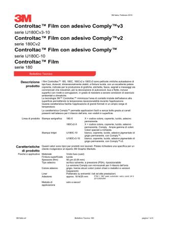 Controltac™ Film Controltac™ Film con adesivo Comply™v3