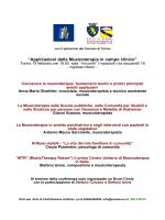 """""""Applicazioni della Musicoterapia in campo clinico"""""""