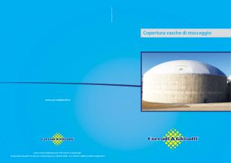 Copertura vasche di stoccaggio - Impianti biogas, pulizia digestori