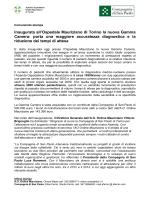 Comunicato stampa_Al Mauriziano inaugurata la nuova Gamma