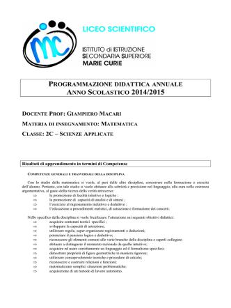 Classe 2C - Matematica - Istituto di Istruzione Secondaria Superiore