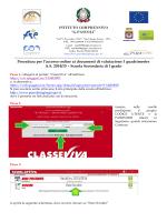 Procedura per l`accesso online ai documenti di valutazione I