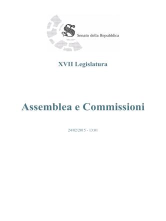 Assemblea e Commissioni - Senato della Repubblica