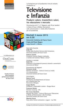 16/02/2015Televisione e Infanzia