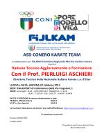 Con il Prof. PIERLUIGI ASCHIERI - ASD Karate Kai Civitanova Marche