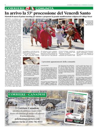 comunità - Corriere Canadese