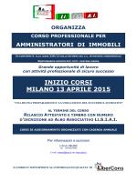 INIZIO CORSI MILANO 13 APRILE 2015