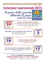catechesi nei martedì di Quaresima presso la Cripta della Brunella