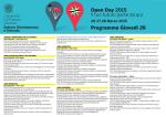 Open Day 2015 Il tuo futuro parte da qui Programma Giovedì 26