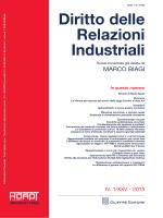 Diritto delle Relazioni Industriali
