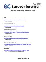 Edizione di mercoledì 25 febbraio 2015