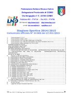 COMUNICATO n.33 BIS del 27/02/2015