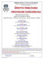 diritto tributario procedure concorsuali