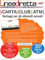 Vantaggi per gli abbonati annuali CARTA CLUB ATM
