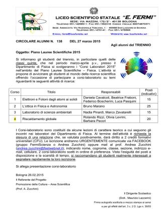 Allegato - Liceo Scientifico Statale