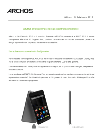 ARCHOS 50 Oxygen Plus: il design incontra le performance Uno