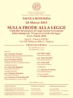 SULLA FRODE ALLA LEGGE - Università degli Studi di Padova
