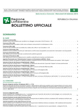 Bollettino Ufficiale della Regione Lombardia