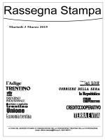 Scarica il fascicolo PDF della Rassegna Stampa di Martedì 3 Marzo