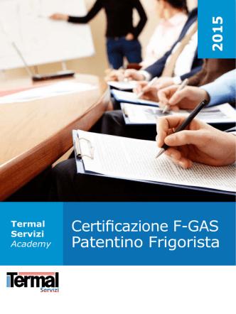 Certificazione F-GAS Patentino Frigorista