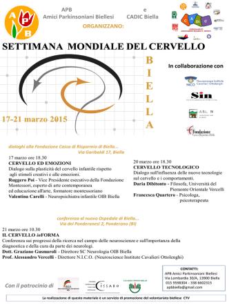 17-21 Marzo 2015 Settimana del cervello