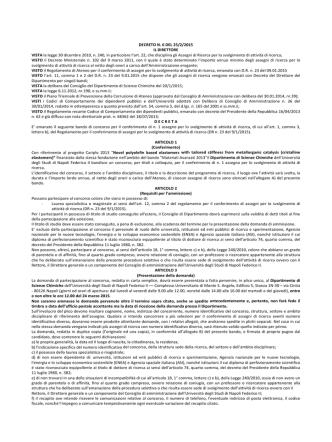 DECRETO N. 6 DEL 25/2/2015 IL DIRETTORE VISTA la legge 30