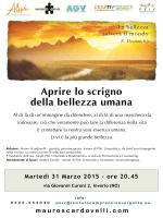 Convegno Apri lo scrigno della bellezza umana 31 marzo 2015