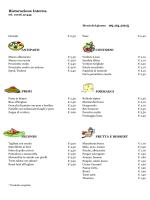 Menu del 09 Marzo 2015 - CRAL Aziendale Fondiaria